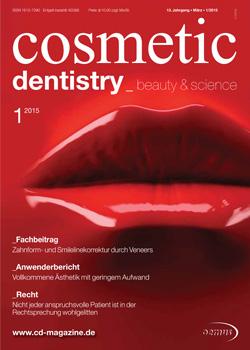 cosmetic dentistry Ausgabe 1/2015